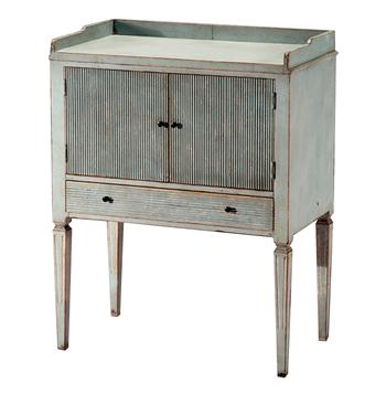 Lorelei Spindle Leg French Country Blue Gray Wash Side Table