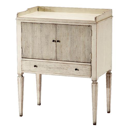 Lorelei Spindle Leg French Country White Wash Side Table