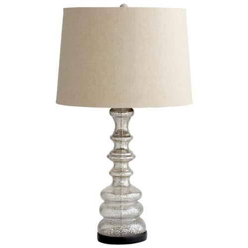 Lux Silver Rain Mercury Glass Contemporary Lamp