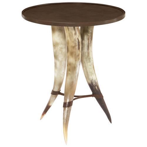 Marlin Global Bazaar Horn Side End Table Kathy Kuo Home
