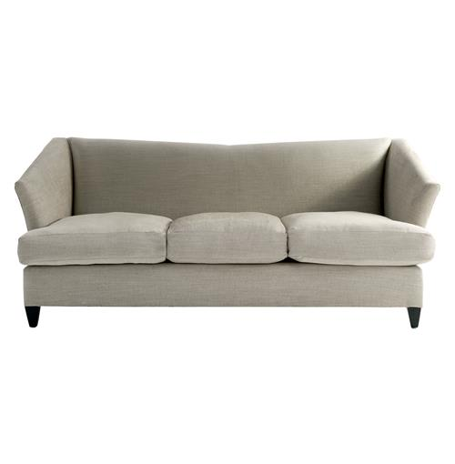 Marlowe Retro Hollywood Regency Vintage Linen Sofa