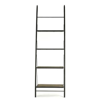 Martina Industrial Loft Reclaimed Wood Ladder Bookcase - L