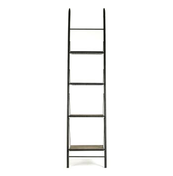 Martina Industrial Loft Reclaimed Wood Ladder Bookcase - S