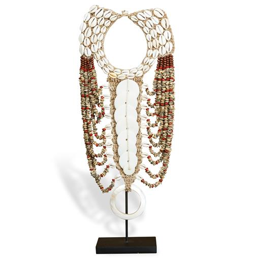 Merkato Global Bazaar Shell Beaded Tribal Necklace