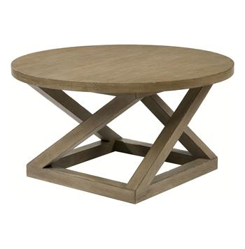 Modern Casual Distressed Taupe Gray Landon Cocktail Table