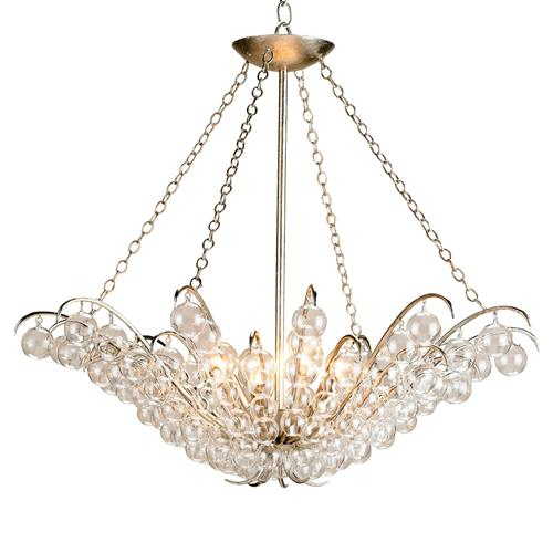 Modern Glass Ball Bubble 4 light Chandelier