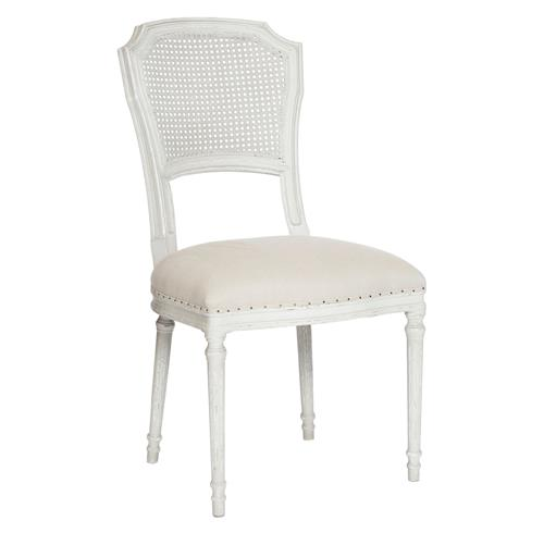 Pair Camilla French Country White Wash Shabby Chic Dining Chair