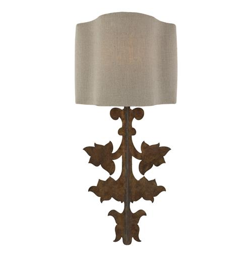 Pair French Country Gold Leaf Stenciled Number Wall Sconce Set
