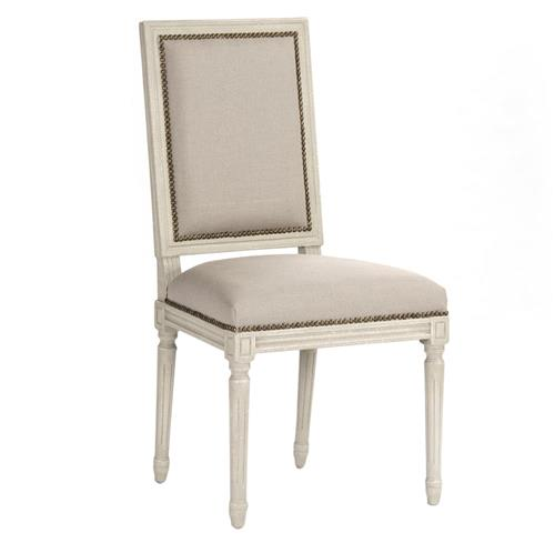 Pair St. Germain French Country Antique Ivory Dining Side Chair