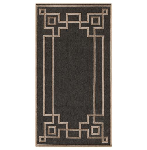 Paloma Mosaic Coffee Table: Paloma Hollywood Regency Graphic Black Taupe Outdoor Rug