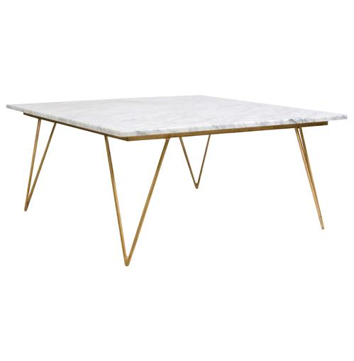 Gold Gilt Versailles Marble Top Coffee Table: Piazza Hollywood Regency White Marble Gold Coffee Table