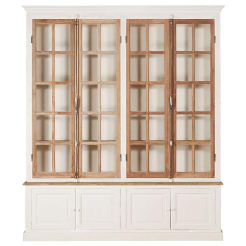 White Pine Cabinets: Portes Antique French Country 4 Door White Pine Cabinet