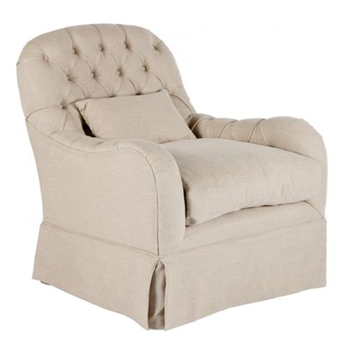 Quinn Tufted French Country Salon Arm Chair