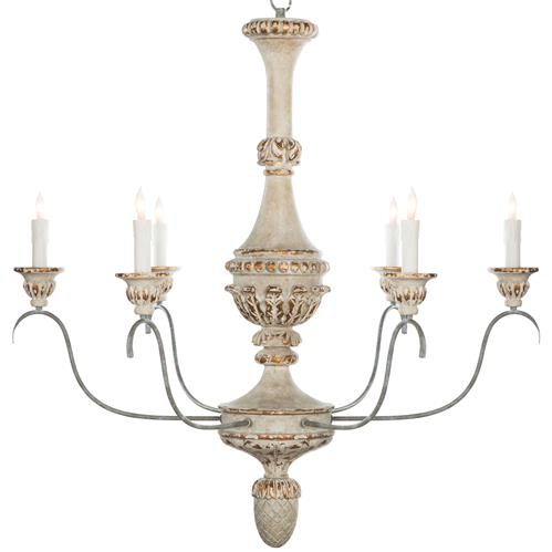 Remmy French Country Antique White Chandelier