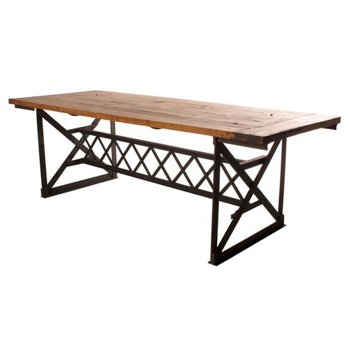 Riveter's Industrial Modern Chunky Wood Dining Table