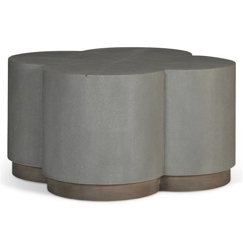 Industrial Coffee Table Ottoman: Robinson Industrial Loft Grey Shagreen Ottoman Coffee Table
