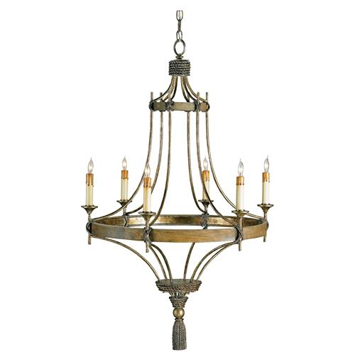 rustic bronze wrought iron 6 light chandelier. Black Bedroom Furniture Sets. Home Design Ideas