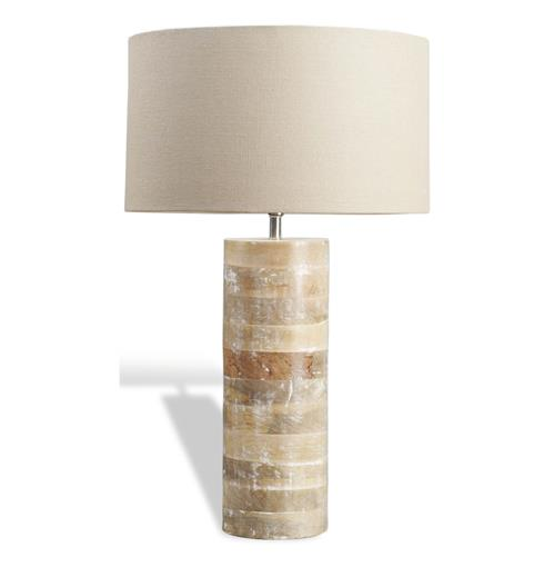 Sagamore Modern Rustic White Wash Wood Lamp