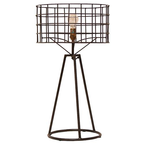Sanctuary Industrial Loft Steel Table Lamp Kathy Kuo Home