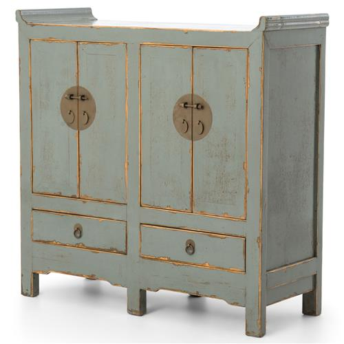 bathroom cabinet sinks sansha global bazaar weathered green blue 4 door cabinet 11147