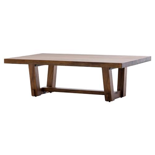 Rustic Wood Slab Industrial Coffee Table: Selden Rustic Lodge Wood Slab Coffee Table