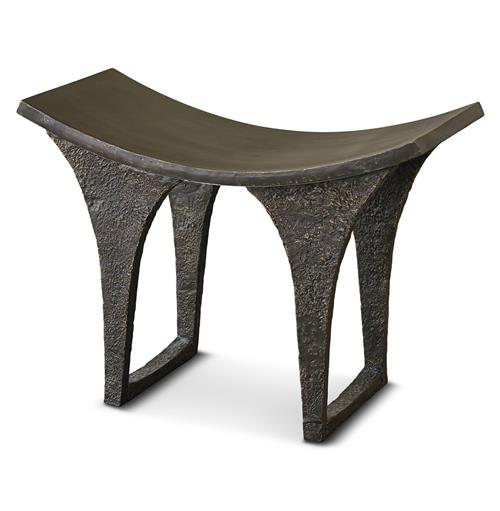 Rollins Industrial Loft Bronze Iron Coffee Table Kathy Kuo: Shencheng Global Bazaar Antique Bronze Cast Iron Stool