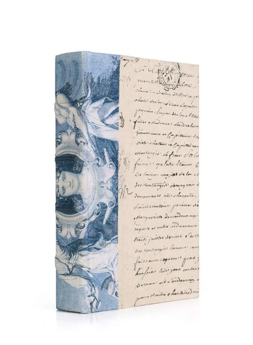 Single Antique Blue Goddess Decorative Book | Kathy Kuo Home
