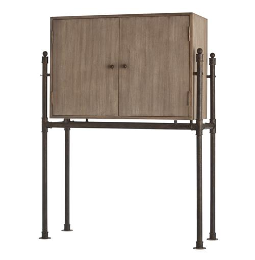 Solomon Solid Oak Danish Modern Home Bar | Kathy Kuo Home