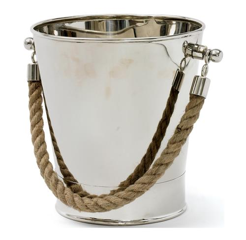 Starboard Polished Silver Nautical Rope Wine Chiller