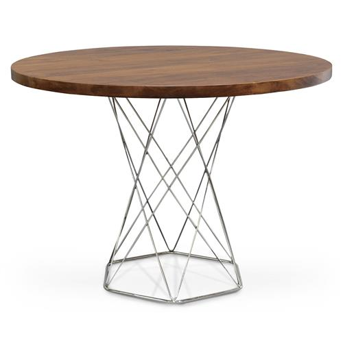 Industrial Modern Solid Wood Round Dining Bistro Table Dining