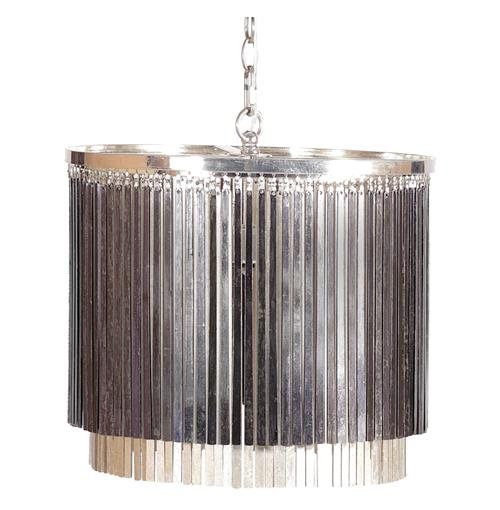 Susana Silver Black Glam Hanging Rod Pendant Chandelier | Kathy Kuo Home