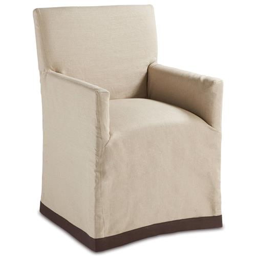 classic natural linen slipcover dining arm chair kathy kuo home