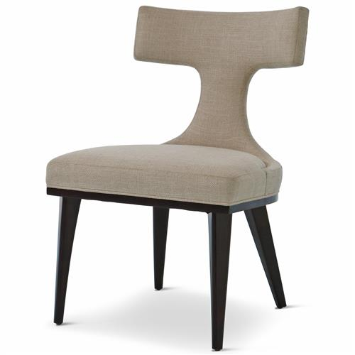 Truman Modern Classic Oatmeal Linen Upholstered Anvil Dining Chair ...