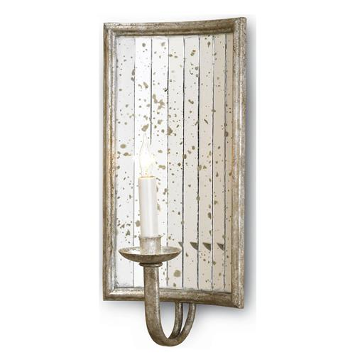 Twilight Rectangle Antique Mirror Wall Sconce | Kathy Kuo Home