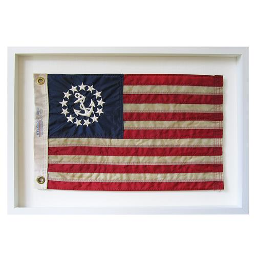 United States Yacht Ensign Aged Flag Wall Decor - by Karen Robertson