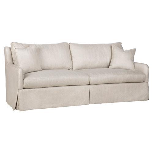 Vanguard Fisher Modern Classic Beige Slipcover Sofa