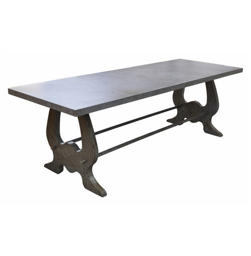 Verre Industrial Style Lute Iron Dining Table