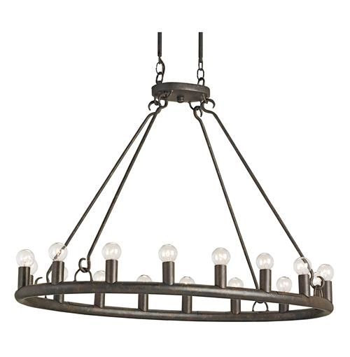 Rollins Industrial Loft Bronze Iron Coffee Table Kathy Kuo: Wilford Antique Old Bronze Oval 16 Light Chandelier
