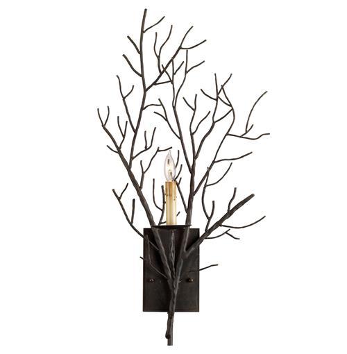Winterfall Rustic Lodge Tree Branch Organic 1 Light Wall