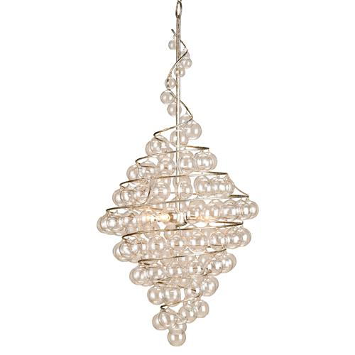 Wishmere Glass Bauble Spiral Helix 4 light Chandelier | Kathy Kuo Home