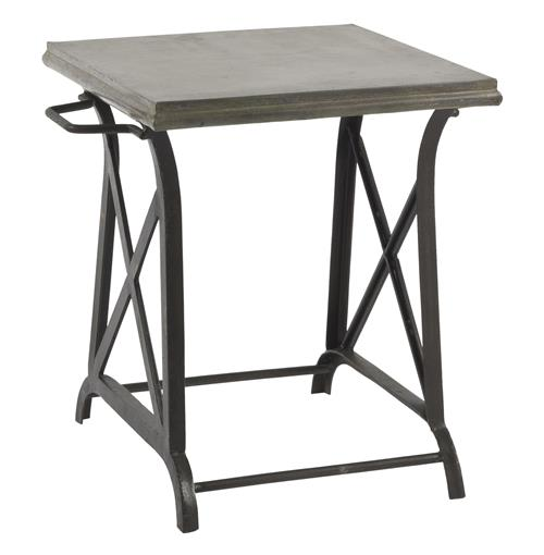 Xander Wrought Iron Industrial Loft Crossing Side Table