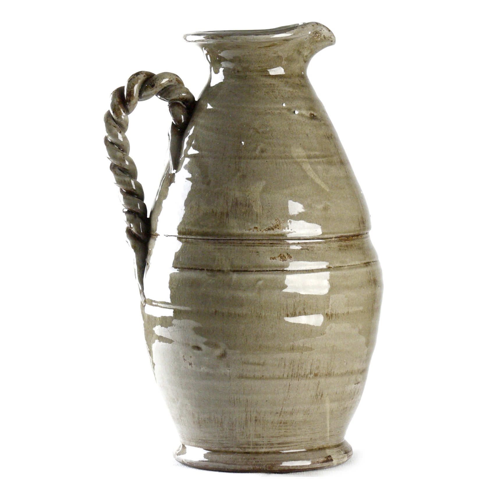 Athenaeum French Country Grey Pitcher Vase