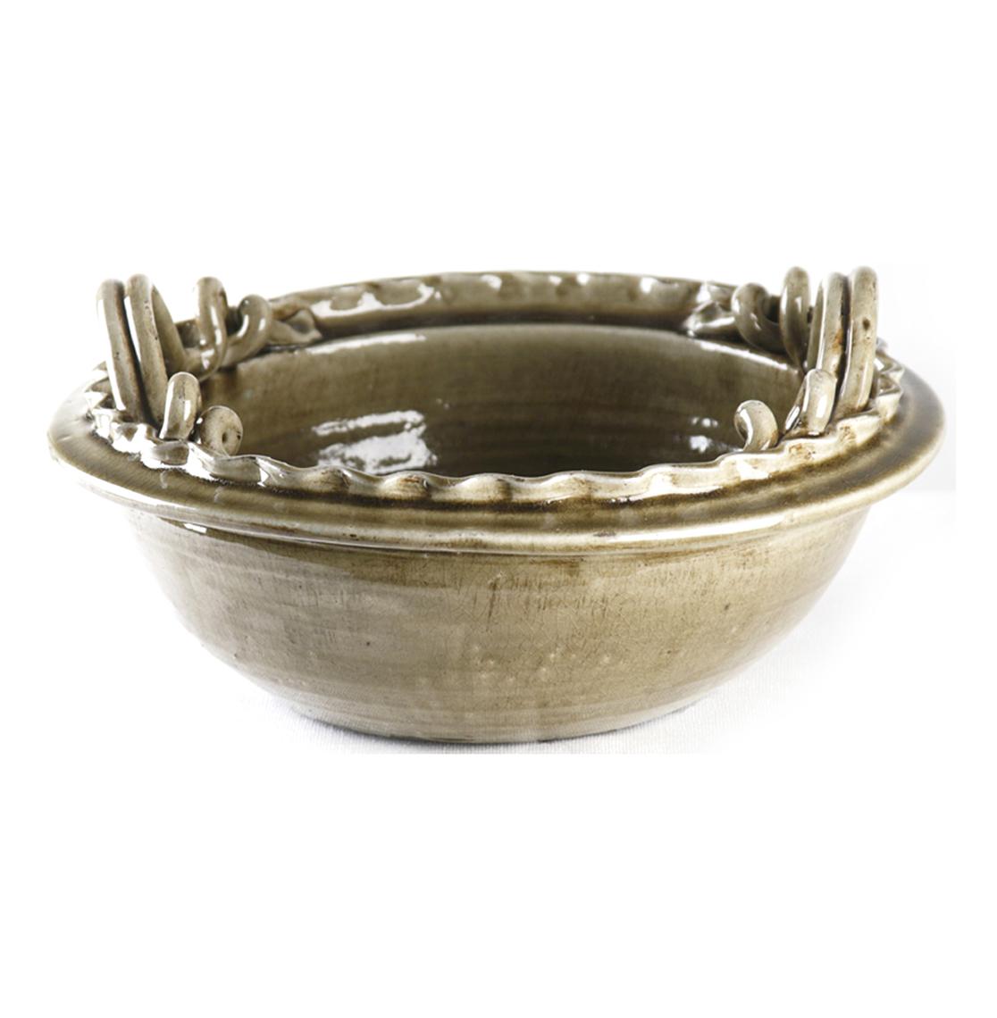 Athenaeum Earthenware Double Handled Deep Bowl