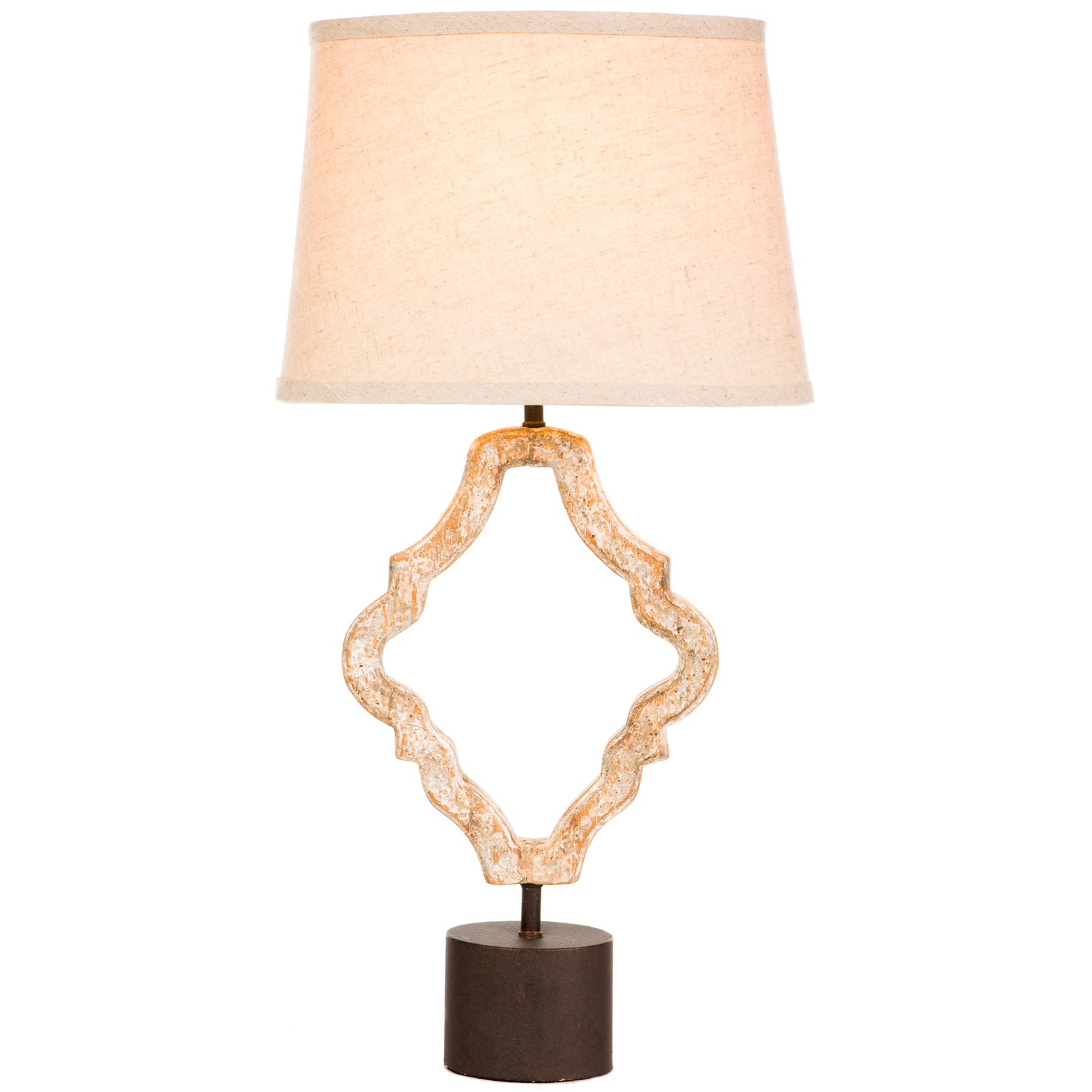 Nenet Hollywood Regency Natural Aged Gold Table Lamps - Pair