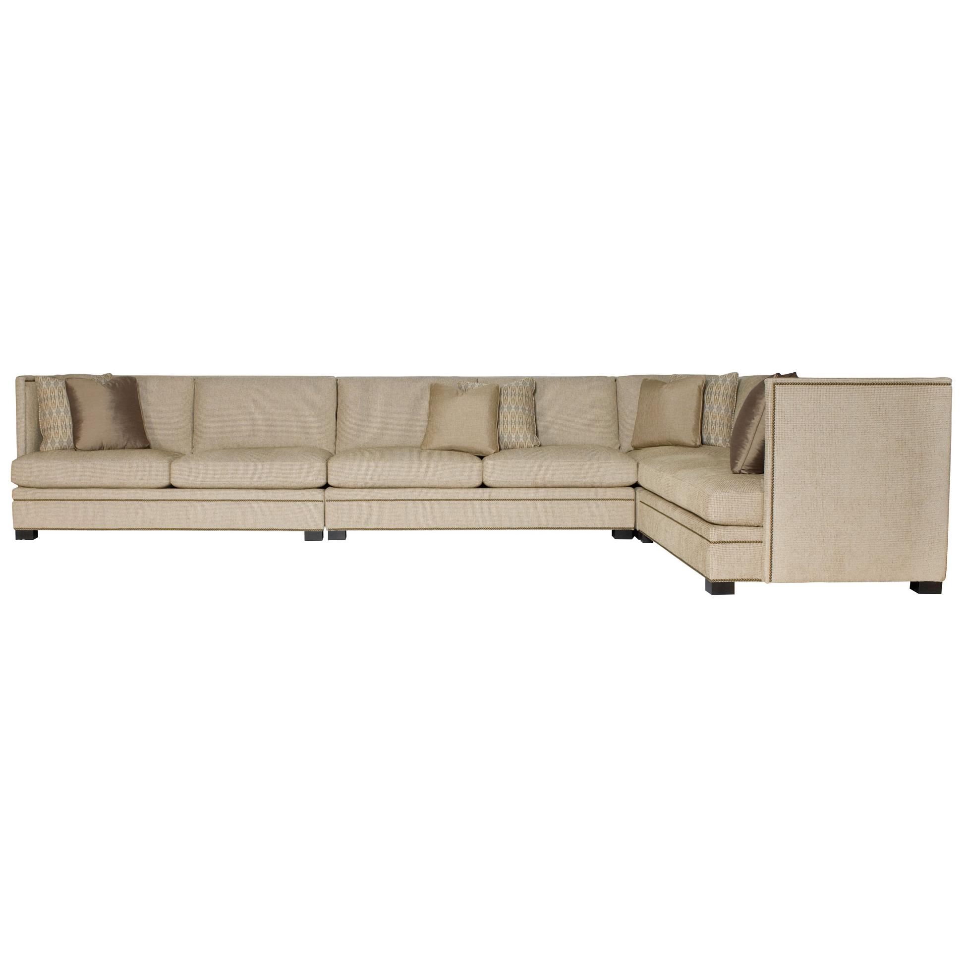 Everly Modern Beige Pillowback 4 Part Sectional - 180.25x111.25
