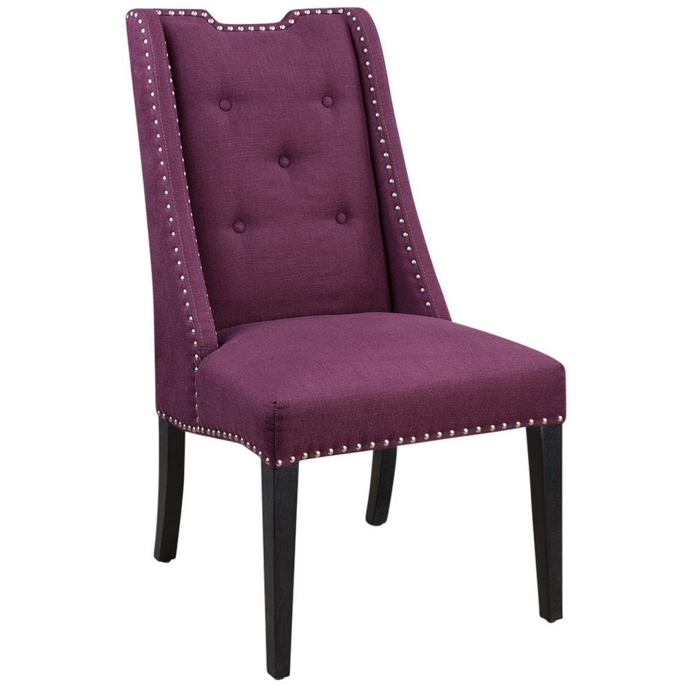 Taba Global Bazaar Purple Wingback Accent Chair