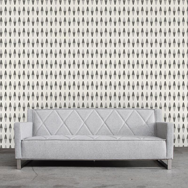 Retrogeo Industrial Loft Greyscale Removable Wallpaper