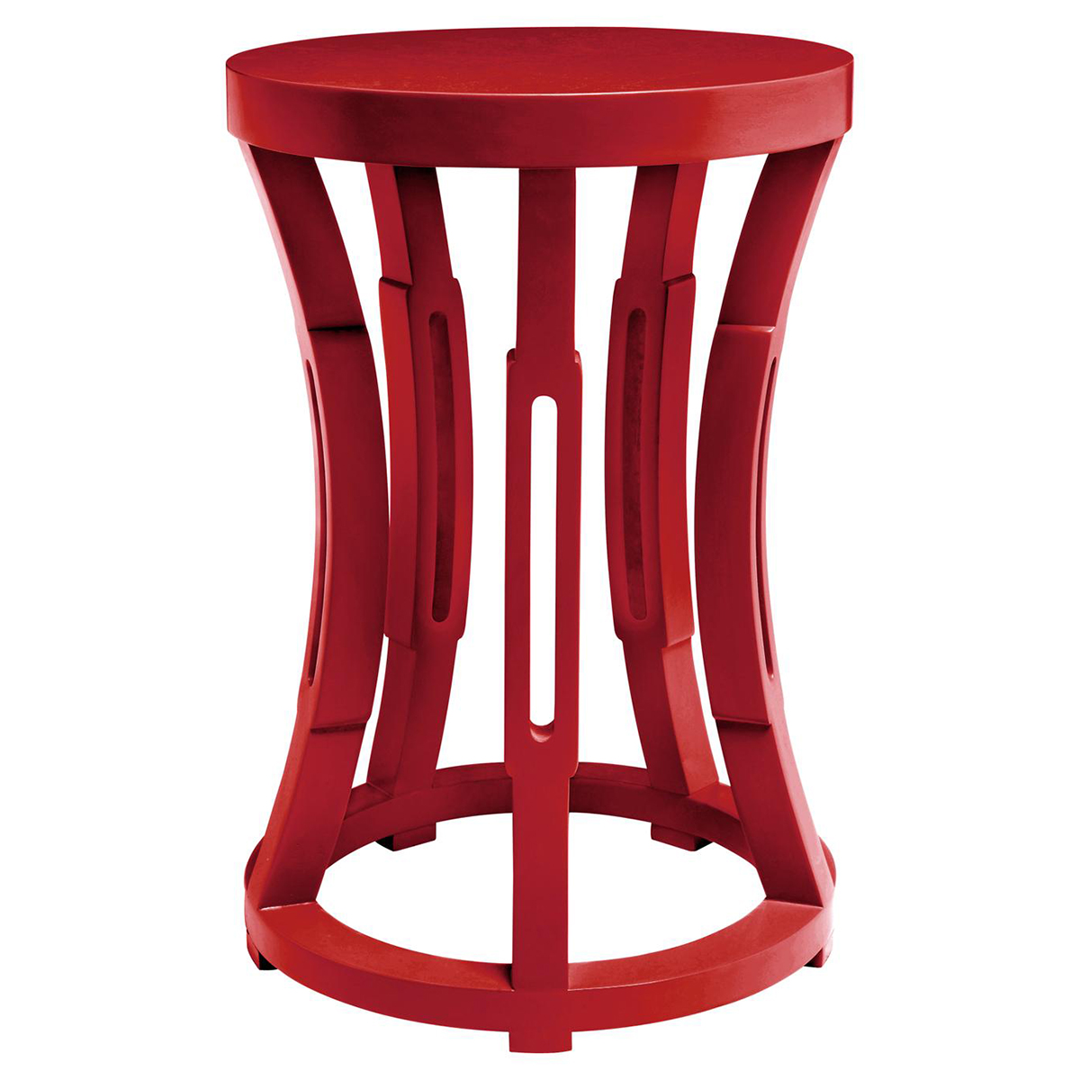 Lantana Modern Global Red Side Table Stool