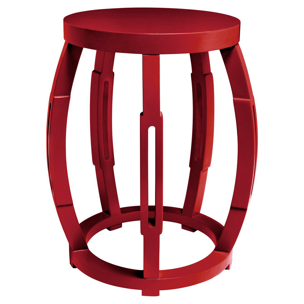 Sanibel Hollywood Regency Red Side Table Stool