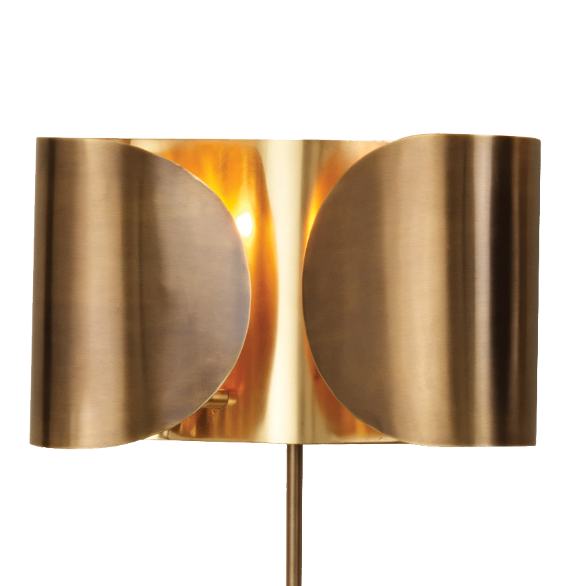 Gabriela Hollywood Regency Golden Brass Folded Sconce